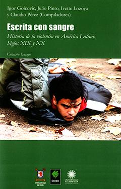 Cubierta de color verde, ilustrada en su parte central por una fotografía en colores tomada por el fotógrafo chileno Pavel Ilich Pavelic Jofré.  En ella se puede ver a un muchacho de entre 18 y 20 años, vestido con una parka, recostado boca abajo sobre la tierra. Tiene la frente sucia y las manos cruzadas en la espalda. Junto a él se ven las piernas de la persona que lo mantiene inmovilizado en esta posición. La persona viste zapatos negros y pantalón impermeable verde militar, se trata, aparentemente, de un carabinero. En la parte superior se leen los nombres de los autores, el título de la obra y la colección a la que pertenece. A pié de página la editorial y las universidades que colaboraron.