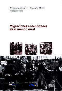 Cubierta de color blanco, ilustrada por cuatro fotografías en blanco y negro muy antiguas, en cada una de ellas se ven diferentes grupos de personas con baúles, maletas y canastos. En la mitad superior se lee el nombre de la autora y el título de la obra.