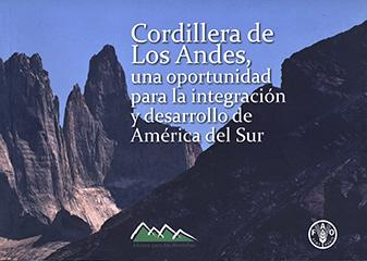 Cubierta ilustrada por una fotografía en color de la Cordillera de Los Andes. En la parte central superior se encuentra el título en letras grandes de color blanco. En el costado inferior derecho aparece el nombre del autor en letras pequeñas de color blanco.