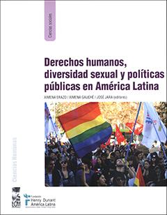 Cubierta de color blanco. En la parte superior se encuentra el título en letras grandes de color morado, y, más abajo, aparecen los nombres de los editores en letras pequeñas de color negro. En la parte inferior se aprecia una fotografía en colores de un grupo de personas marchando, llevan banderas de múltiples colores que representan a los homosexuales.