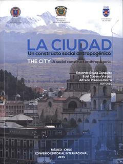 Cubierta ilustrada por la fotografía en colores de una ciudad, con la Cordillera al fondo. En la parte superior se encuentra el título en letras grandes de color azul y en letras pequeñas de color negro. Más abajo, hacia la derecha, aparecen los nombres de los editores en letras pequeñas de color blanco.