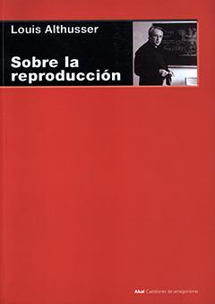 Cubierta de color rojo. En la parte superior, en una franja color negro, se encuentra el nombre del autor en letras medianas de color blanco, y , más abajo, aparece el título en letras grandes de color blanco. Al costado derecho se aprecia una fotografía en blanco y negro de Louis Althusser.