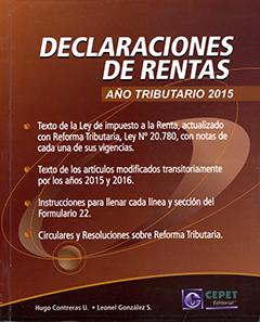 Declaraciones de rentas : año tributario 2015