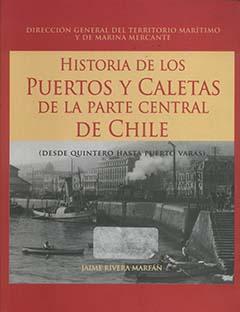 Cubierta de color rojo, en la mitad superior y sobre un recuadro amarillo, se lee el título de la obra en grandes letras de color rojo. En la mitad inferior se encuentra una fotografía en blanco y negro donde se ve el puerto de Valparaíso, la imagen fue tomada en 1930.