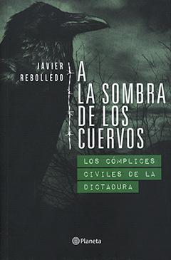 Cubierta de color verde oscuro, ilustrada por la imagen de un cuervo y ramas de árboles de fondo. En la parte superior izquierda se encuentra el nombre del autor en letras medianas de color blanco. En la parte central, hacia la derecha, aparece el título en letras grandes de color blanco.