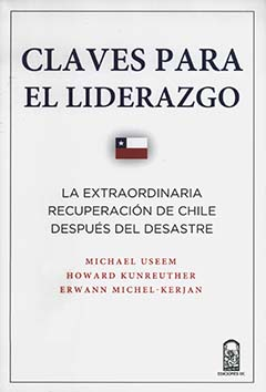 Cubierta de color blanco ilustrada con una pequeña bandera chilena al centro. En la parte superior se encuentra parte del título en letras de color azul, más abajo, el resto del título en letras de color negro. En la parte inferior se encuentran los nombres de los autores en letras de color rojo.