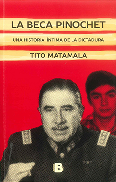 Cubierta de color rojo, ilustrada con la fotografía de Augusto Pinochet, atrás aparece la fotografía de Tito Matamala. En la parte superior, en unas franjas de color amarillo claro, se encuentra el título en letras grandes y medianas de color negro. Más abajo, en una franja de color amarillo claro, está  el nombre del autor en letras medianas de color negro.