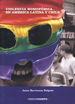 En cubierta la fotografía en blanco y negro de la Marcha por la diversidad sexual realizada en Santiago en 2012, sobre la cual se interviene el rostro en primer plano de uno de los participantes con una máscara con los colores (rojo, naranjo, amarillo, verde, azul y morado) de la bandera de la comunidad  LGBT. Título y autor en letras de color blanco.
