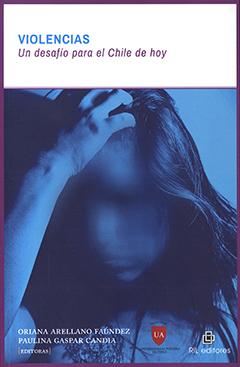 Cubierta con diseño en color azul de una mujer joven en actitud de temor y pena tomándose la cabeza con la mano derecha. En la parte superior en rectángulo de color blanco va impreso el título en letras destacadas de color azul. En base inferior de la cubierta van los nombres de las editoras.