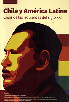 Cubierta de color amarillo claro, ilustrada con dibujo del perfil de Hugo Chávez en tonos amarillos, naranjo, cafés y negro. Título del libro en borde superior de la cubierta con gruesas letras de color café. Nombre de los editores y autores en base inferior en pequeñas letras de color amarillo claro.