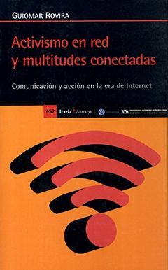 Cubierta de colores negro y naranjo, en la parte inferior se ve el dibujo del símbolo de wifi. En la parte superior se encuentra el nombre de la autora en letras medianas de color blanco. Más abajo aparece el título en letras grandes de color rojo y en letras pequeñas de color gris.