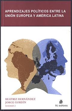 Cubierta de color blanco con dos rostros de perfil en colores azul uno y el otro beige cada uno con un continente impreso dentro. Título en franja superior de color burdeos con letras destacadas de color blanco. Nombre de los coordinadores en base inferior izquierda con letras de color rojo oscuro.