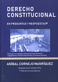 Cubierta de color azul, con fotografía del salón de la Cámara de Diputados en Valparaíso. En la parte superior se encuentra el título con letras grandes y pequeñas de color blanco. En la parte inferior aparece el nombre del autor en letras medianas de color blanco.