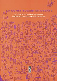Cubierta de color naranjo, ilustrada por diversos dibujos en color morado de distintos tipos de personas, desarrollando distintas actividades. En la parte superior se encuentra el título en letras medianas de color morado y en letras pequeñas de color blanco.