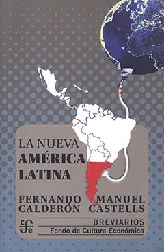Cubierta de colores gris y celeste, ilustrada por la imagen de América Latina conectada por un cable, con la bandera de Estados Unidos, a un globo terráqueo. En la parte inferior, en un recuadro de color gris, se encuentra el título y los nombres de los autores en letras de color negro.