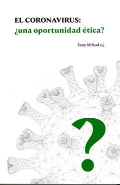 Cubierta de color blanco, en la parte inferior se aprecia una ilustración del virus y sobre ello un signo de interrogación de color verde. En la parte superior se ve el título de la obra con letras verdes y negras, mientras que el nombre del autor se ve con letras negras.